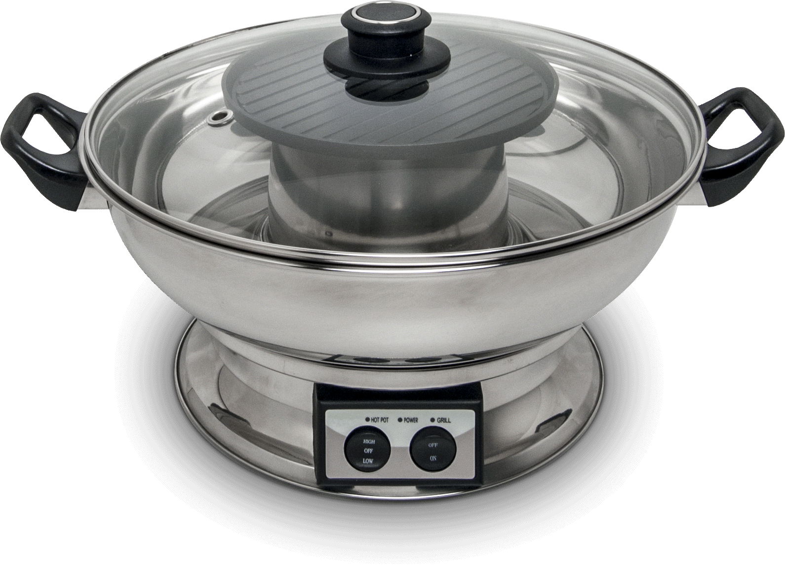 Electric hot pot with grill plate 0