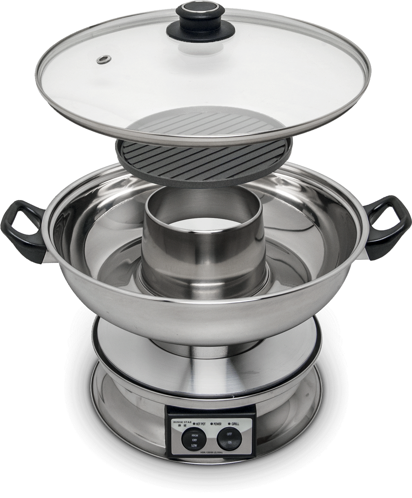 Electric hot pot with grill plate 1